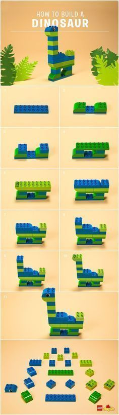 lego ideas to build - build lego ideas . lego ideas to build . lego ideas to build easy . lego ideas to build instructions . lego ideas to build for boys . lego ideas to build houses Dinosaur Activities, Lego Activities, Toddler Activities, Dinosaur Dinosaur, Dinosaur Crafts Kids, Lego Projects, Projects For Kids, Crafts For Kids, Wood Projects