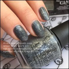 OPI What Time Isn't It? from Alice Through The Looking Glass Brights Nail Collection Summer 2016 Sparitual Nail Polish, Opi Nail Polish Colors, Nail Polish Designs, Opi Nails, Nail Designs, Opi Colors, Mani Pedi, Manicure And Pedicure, Manicure Ideas