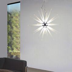 Fabulous Peak LED H ngeleuchte mit Acryl Stacheln cm Chrom