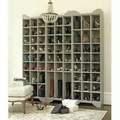Every womans shoe gallery! Lol. If I ever had this many shoes totally want this in my closet!!
