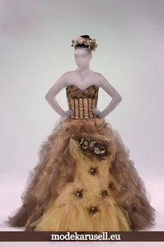 Quinceanera Romantisches Ballkleid Bronze Braun Brautkleid Abendkleid Abiballkleid  www.modekarusell.eu
