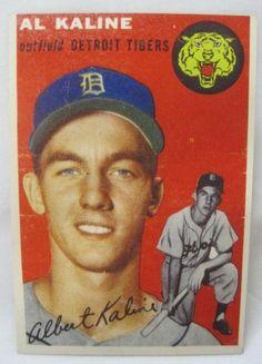 topps 1954 baseball cards   1954 TOPPS AL KALINE BASEBALL CARD : Lot 47