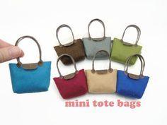 DIY Miniature Doll Mini Tote Bag - No Sew! Easy! - YouTube