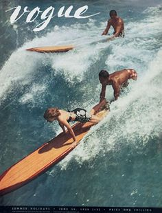Vogue Cover - JUNE 1939 #surf #summer #vogue #vintage (ok this has gotta be in Hawaii)