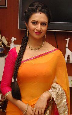 18 Awesome Pics of Divyanka Tripathi in Saree Orange Saree, Yellow Saree, Indian Actress Pics, Indian Actresses, Tamil Actress, Actress Photos, Bollywood Girls, Bollywood Saree, Beautiful Girl Indian