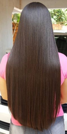 Long Hair Care Basics for Beautiful, Long, Healthy Hair. About Long Hair Care. It's pretty common to hear that in order to grow long hair, you just stop cutting it. Beautiful Long Hair, Gorgeous Hair, Haircuts Straight Hair, Wine Hair, Long Dark Hair, Super Long Hair, Silky Hair, Braids For Long Hair, Brunette Hair