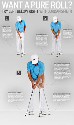 Golf Swing Check out Jordan Spieth Putting Tips! More golf tips everyday at Lori's Golf Shoppe Jordan Spieth Putting, Skate, Golf Mk4, Let's Golf, Golf Putting Tips, Golf Chipping, Chipping Tips, Golf Practice, Golf Videos