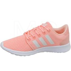 low priced f9f42 4042a NWOB Adidas qt Cloudfoam Running Shoes Coral White Sunglo Aw4005
