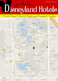Looking to plan a Disneyland vacation an trying to decide where to stay? Here's a map and guide to the hotels by Disneyland to help with your Disney vacation planning. StuffedSuitcase.com