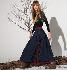 Dark blue linen skirt maxi skirt women skirt (1159) by xiaolizi on Etsy https://www.etsy.com/listing/224632449/dark-blue-linen-skirt-maxi-skirt-women