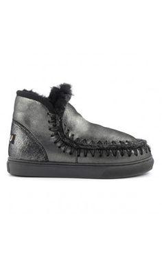 Mou Boots Mini Eskimo Sneaker Women Microglitter Black #WeHeartIt #StayWarm