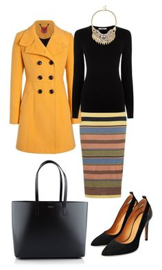"""Giallo"" by paolas91 on Polyvore featuring moda, Topshop, Oasis, Sole Society e Yves Saint Laurent"