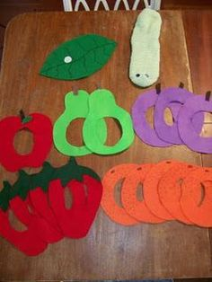 The Very Hungry Caterpillar  cute! :) I have this story now to make the cute crafts to go with it. I NEED to make this for the boys' teachers since they did a whole thing on caterpillars/butterflies!!!