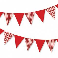 Chevron red  bunting - hardtofind.