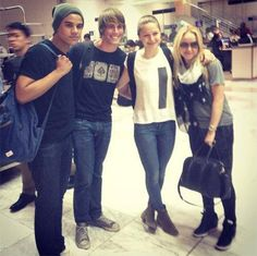 Glee cast that includes Jacob Artist who plays Jake Puckerman, Melissa Benoist who plays Marley Rose, Becca Tobin who play Kitty, and Blake Jenner who plays Ryder Lynn have landed in Manila this am, June 7th. They were met by our fellow Gleeks snapping pics of the cast. What are these four doing in Manila??