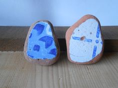 Surf tumbled sea pottery, Vintage beach pottery  Sea pottery  Collectible  shards sea pottery  2 antique large pieces   lotto241 di lepropostedimari su Etsy