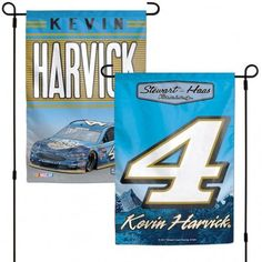 Nascar Kevin Harvick Flag 12x18 Garden Style 2 Sided Special Order