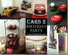 Cars 2 games (spark plug drop and car wash decorations)