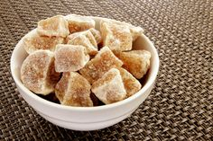 Spiced Candied Ginger recipe - great as a healthier sweet treat, or steep a few pieces in your tea!  Spices for Winter Wellness - Stone Soup - January 2014