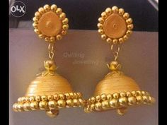 """How to make paper quilled """"Jhumka"""" Tutorial......... - YouTube"""