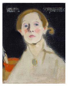 "Helene Schjerfbeck, ""Self-Portrait, Black Background"" (1915), oil on canvas, 45.5 x 36 cm, Herman and Elisabeth Hallonblad collection, Finnish National Gallery / Ateneum Art Museum (courtesy Finnish National Gallery / Hannu Aaltonen)"