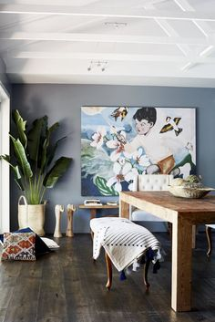Name: Margaret Scholley Location: Bangalow, Australia Size: 1453 square feet Years lived in: Owned 7 years Margaret Scholley has been designing residential interiors for over 20 years in Australia, founding Alida & Miller Interior Design, an impressive firm that takes on design and styling projects around the world. In 2013, her daughter Kit (see her house tour!) joined her, and they're now a mother daughter design duo focusing on interior styling and staging in the Byron Bay hint...
