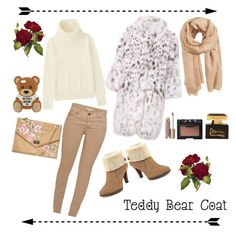 """Little Bear Hangout🐻"" by awakewithu on Polyvore featuring Uniqlo, Barbour, Anne Klein, Moschino, MANGO, Stila, NARS Cosmetics and Dolce&Gabbana"