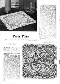 Kira scheme crochet: Scheme crochet no. Filet Crochet Charts, Crochet Doily Patterns, Crochet Motif, Crochet Doilies, Crochet Table Runner, Crochet Tablecloth, Crochet Home, Knit Or Crochet, Decorative Napkins