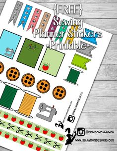 {FREE} Sewing Themed Planner Sticker Printable