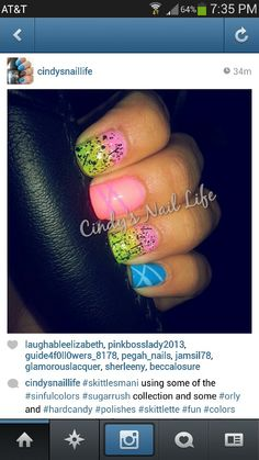 Fun cute nails