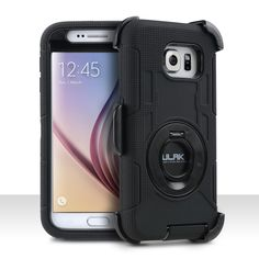 Samsung Galaxy S6 Shockproof Super Rugged Holster Case with Stand and Clip