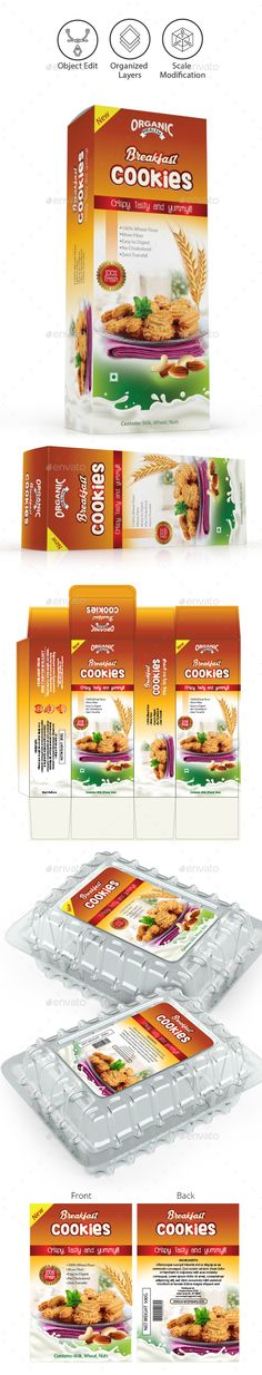 Cookies Packaging Templates
