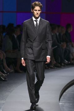 <3 This is a beautiful suit - just the right gray, the material, only one double breasted fastening -- I love it. Ermenegildo Zegna Spring/Summer 2014