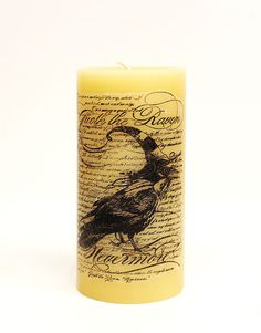 Transferring a Stamped Image onto a Candle #DIY