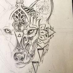 2017 trend Geometric Tattoo - geometric wolf tattoos Stunning Geometric Line Tattoos By Dr. Woo ......