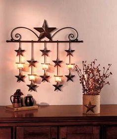 Americana Decor Metal Stars Vertical Hanging Ornament Wall Home Patriotic Pinterest And