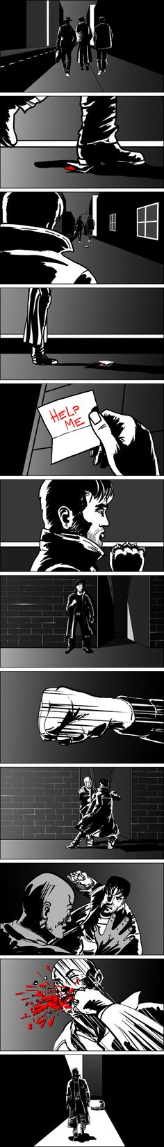 Storyboards For Horror Film. Storyboards For Films, Commercials