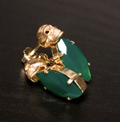 not your grandmother's gold and jade earrings..