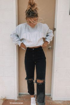 Casual School Outfits, Cute Comfy Outfits, Winter Fashion Outfits, Retro Outfits, Stylish Outfits, Cold Summer Outfits, Back To School Outfits Highschool, Teen Fall Outfits, Teenage Girl Outfits