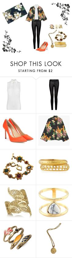 """Senza titolo #39"" by angeladesantis ❤ liked on Polyvore featuring MICHAEL Michael Kors, Jimmy Choo, MANGO, Yves Saint Laurent, Ashley Pittman, Mallarino, Lucky Brand, Chanel and Sonix"