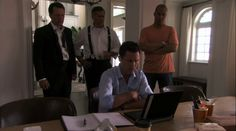 "Burn Notice 4x08 ""Where There's Smoke"" - Michael Westen (Jeffrey Donovan), Sam Axe (Bruce Campbell), Jesse Porter (Coby Bell) & Christian Aikins (Steven Culp)"
