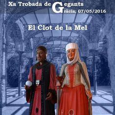 totagenda cultura: Xª Trobada de Gegants de Gràcia el 7 de Maig a Barcelona -Barcelonès-