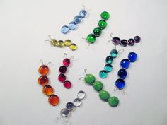 Stained Glass Caterpillar Magnets by PowerGlassCreations on Etsy, $6.00