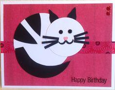 Cat Card Cat Cards, Card Ideas, Happy Birthday, Cats, Inspiration, Happy Brithday, Biblical Inspiration, Gatos, Urari La Multi Ani