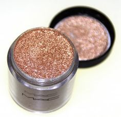 MAC rose gold pigment...beautiful on everyone! I don't even wear eye shadow but I definitely would wear this!
