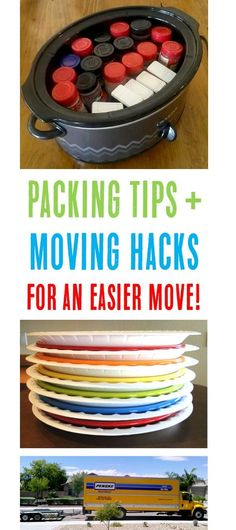 Moving Packing Tips and Hacks to Make Your Next Move a Breeze! {HUGE list of easy tricks for packing up apartments and houses}