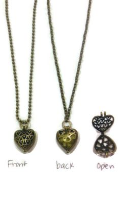 These locket/pendant necklaces are made by me and absolutely adorable! A perfect way to keep your favorite essential oil scent with you all day long.