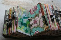 Vintage rolodex scrapodex collage journal - lots of tips for this journal type