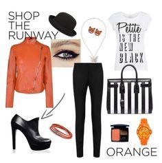"""The Orange Look"" by passepartous ❤ liked on Polyvore featuring Yves Saint Laurent, Joseph, David Yurman, BCBGMAXAZRIA, Ice, Alexander McQueen, Christian Dior, PolyvoreNYFW, shoptherunway and passepartous"