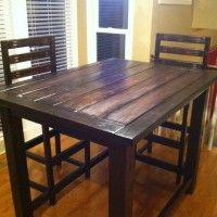 DIY Project Plan: Build a Rustic Counter-Height Table via ModestlyHandmade.com